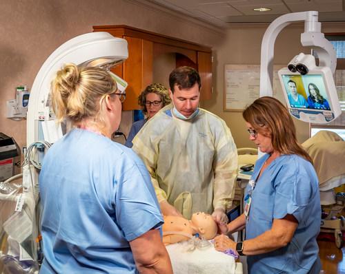 Children's Minnesota neonatology team practices a virtual care consultation.