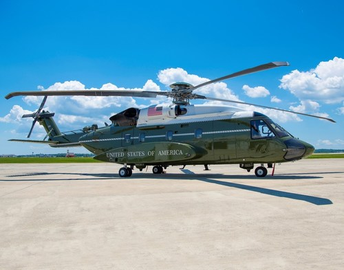 VH-92A® helicopter on the tarmac at Naval Air Station, Patuxent River. The VH-92A test aircraft have proven their production readiness by undergoing rigorous U.S. government testing and operational assessments, including more than 1,000 flight test hours establishing the aircraft's technical maturity and readiness of its mission systems. Photo courtesy U.S. Navy.