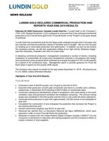 Lundin Gold Declares Commercial Production and Reports Year End 2019 Results (CNW Group/Lundin Gold Inc.)