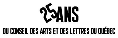 Logo : 25 ans du Conseil des arts et des lettres du Québec (Groupe CNW/Conseil des arts et des lettres du Québec)