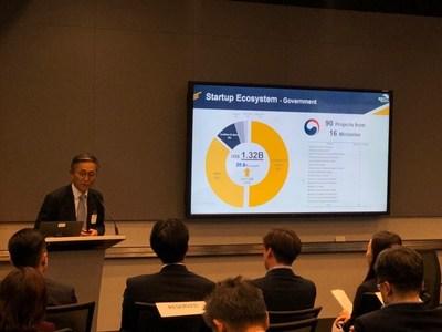 Chief Executive Director Kim Jongkap of the Born2Global Centre presented on the Korea's startup ecosystem.