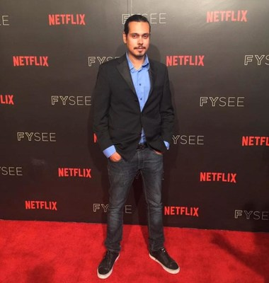 Humberto Rosa no Red Carpet da Netflix