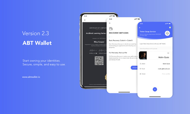 ABT Wallet, the leading decentralized identity wallet