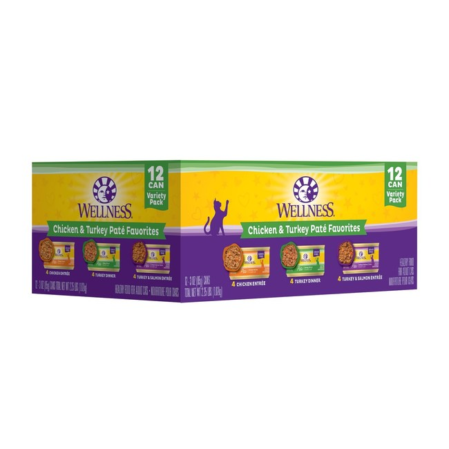 Wellness Complete Health Variety Packs offer a rotation of top-selling Complete Health wet recipes to deliver the convenience cat parents look for when purchasing multiple cans of wet food with the variety and flavor cats crave.
