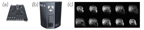 RS2D's hardware for MRI and NMR is used in everything from imaging human brains to analyzing pharmaceutical compounds. Their products include: (a) CameleonTM OEM electronics board, (b) full magnetic resonance electronics console, the Pulse, and (c) software enabling high resolution NMR and MRI imaging and analysis - including this human brain image generated by RS2D's CameleonTM. (CNW Group/Nanalysis Scientific Corp.)