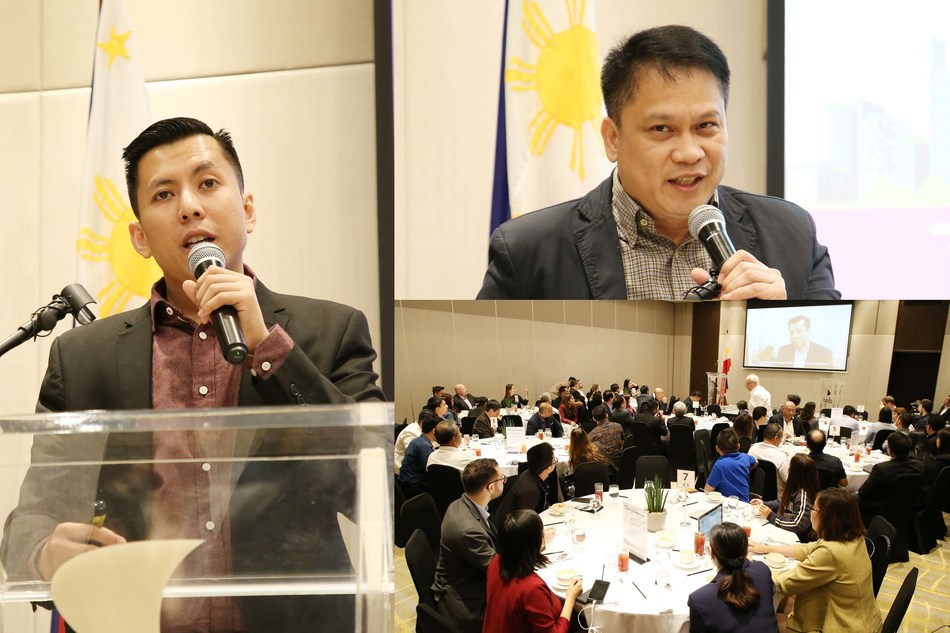 At the business luncheon, Director Patrick Aquino of DOE-EUMB (left) and Division Chief Jhun Escobar of DOE-NREB (top, right) presented updates on the latest programs and policies of the government and the opportunities it provides to the industry stakeholders. Invited guests (down, right) from the Embassies in Manila and high-level company representatives also asked the speakers about their presentations.