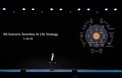Huawei CBG CEO Richard Yu presents 1+8+N strategy at virtual launch event in Barcelona