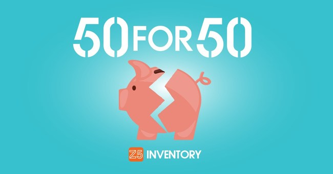 Z5 Inventory announces the 50 For 50 program, which will provide charities with $5000 each time that Z5 customers save a cumulative $5 Million of medical supplies from expiration.