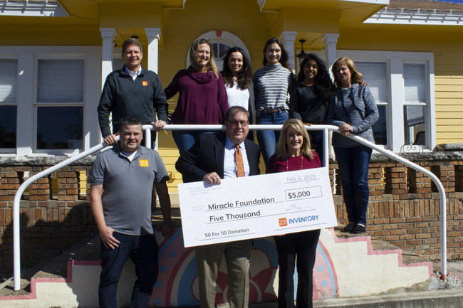Z5 Inventory presents a $5000 donation to nonprofit Miracle Foundation in Austin, TX.