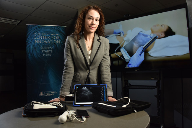 Emagine Solutions Technology's VistaScan portable ultrasound enables doctors to enhance patient care. Clinicians can diagnose in moments, saving time and lives at a fraction of the cost of a cart ultrasound machine. Photo credit: Tech Parks Arizona