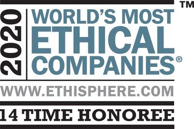 Aflac Incorporated is included on Ethisphere's 2020 list of World's Most Ethical Companies. This is the 14th consecutive year that Aflac has appeared on this prestigious list, making it the only insurance company to appear every year since the recognition's inception in 2007.