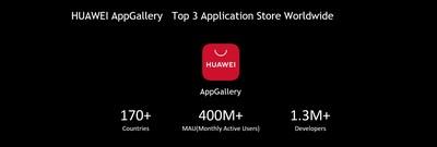 HUAWEI AppGallery: uma das três lojas de aplicativos mais importantes em todo o mundo (PRNewsfoto/Huawei Consumer Business Group)