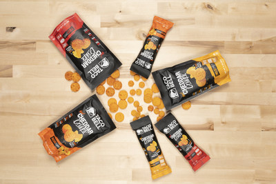 Cheesy, crunchy and craveable isn't just limited to Taco Bell restaurant menus – the brand's newest item, Cheddar Crisps, are hitting shelves at participating U.S. 7-Eleven and Kroger locations and will soon be available through online retailer, Amazon.