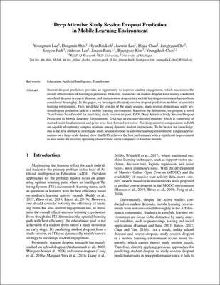 Deep Attentive Study Session Dropout Prediction in Mobile Learning Environment