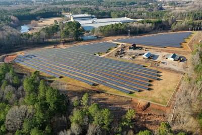 (Solar Panels located at the Kimberly-Clark Lagrange, GA manufacturing plant. Photograph Copyright 2019, United Renewable Energy LLC.)