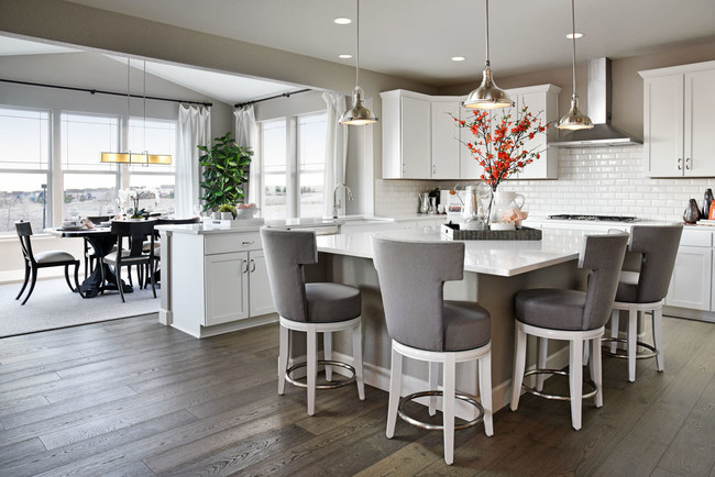 Richmond American's stunning Seth floor plan is modeled at Ridgeline at Meridian Village in Parker, CO.