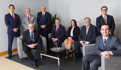 The GRSD Healthcare Department: Standing (l to r):  John W. Kaveney, Partner; Robert B. Hille, Partner; Neil M. Sullivan, Counsel; James A. Robertson, Partner & Department Chair; Seated (l to r):  Andrew  F. McBride, III, Of Counsel; Paul L. Croce, Counsel; Megan R. George, Counsel; John Zen Jackson, Of Counsel; Glenn P. Prives, Partner