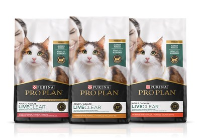 Coming this April, Purina Pro Plan will introduce a revolutionary approach in the management of cat allergens: Pro Plan LiveClear, the first and only cat food that reduces the allergens in cat hair and dander.