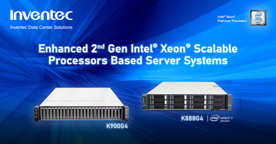 Server manufacturer Inventec announced it will deliver solutions for the latest 2nd Generation Intel® Xeon® Scalable processors and Intel® Select Solutions