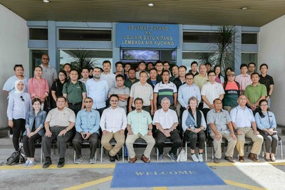 Group Photo at Batu Kitang Water Treatment Plant
