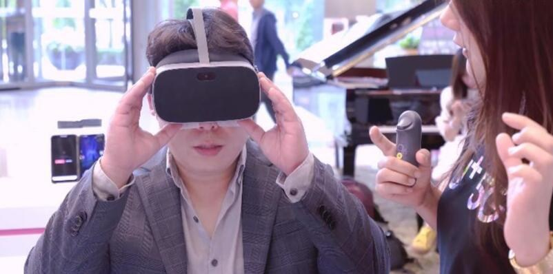 LG U+ 5G Experience Center in Seoul, South Korea, helps visitors try out various applications enabled by 5G technology.