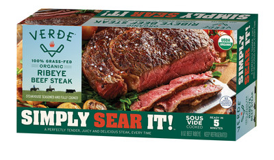 Tender, flavorful, and foolproof, Verde Farms' new Simply Sear It!™ Steakhouse Ribeye Steak can be prepared in under 5 minutes.