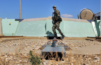 An airman patrols a Minuteman III missile launch facility. The Ground Based Strategic Deterrent program will replace the aging missiles and upgrade the infrastructure.
