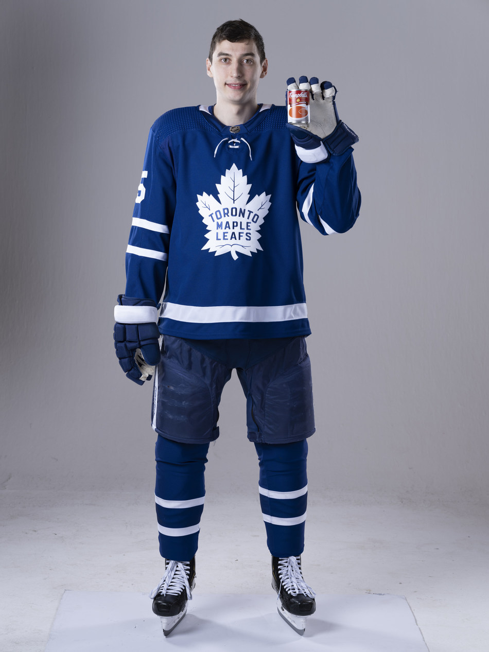 Toronto Maple Leafs' Ilya Mikheyev is named Campbell Canada's Chief Soup Officer (CNW Group/Campbell Company of Canada)