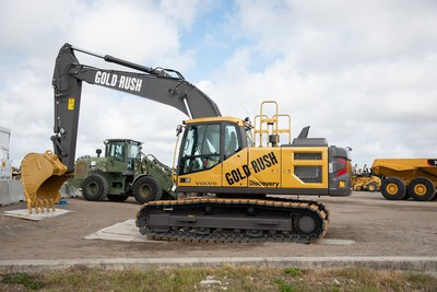 To celebrate 10 years of Discovery's Gold Rush television show, Volvo designed a special edition EC200E excavator, which was sold at Ritchie Bros.' premier global auction in Orlando, FL to an online buyer from Belgium for US$290,000 (CNW Group/Ritchie Bros.)