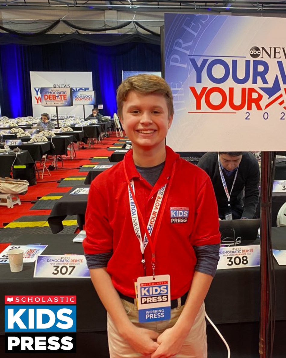 As the campaign trail heats up, Kid Reporters in Scholastic Kids Press, an award-winning team of 50 young journalists ages 10–14, are on the ground getting an inside look at the 2020 United States presidential election to share with students nationwide.