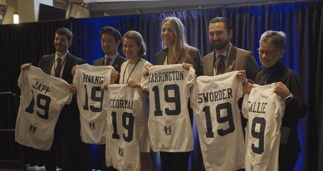 The 2019 Grant Recipients Display Their Jerseys