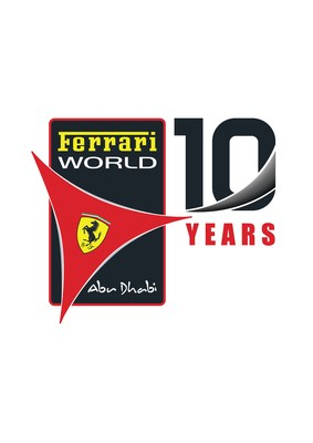 Ferrari World 10 Years Logo