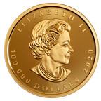 Casa da Moeda Real Canadense lança sua maior moeda de ouro com folha de bordo