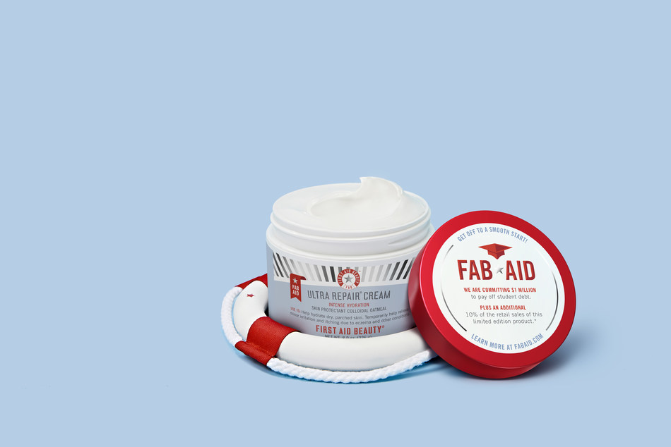 First Aid Beauty Limited-Edition FAB AID Ultra Repair Cream (U.S. product; Canadian product appearance and claims slightly differ. Please contact melanie@shop-pr.com for Canadian imagery and information).