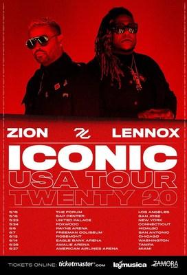 """Zion & Lennox Anuncian Su Primer Gira Estadounidense """"ICONIC Tour Twenty 20"""" Conmemorando Su Legendaria Trayectoria De 20 Años"""