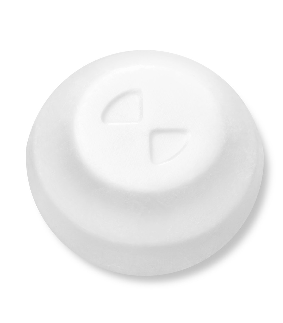 Nurtec™ ODT zoom in showing one individual quick-dissolving tablet (not actual size)