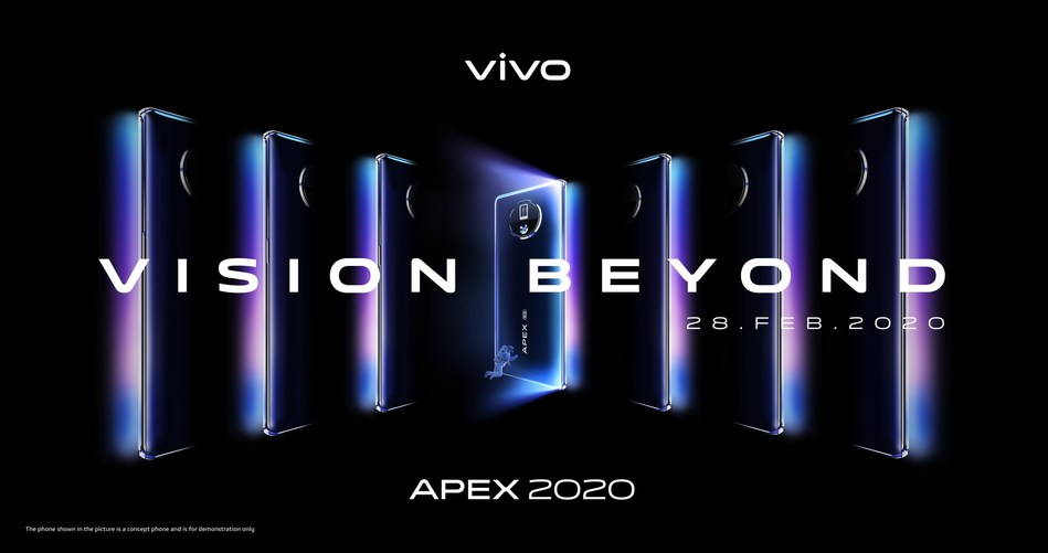 Vivo's APEX 2020 Reveals Futuristic Vision Beyond Imagination (PRNewsfoto/Vivo)