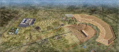 Mapa de efeito do Projeto de Energia-Mineração de Carvão de Thar, no Paquistão (PRNewsfoto/Shanghai Electric)