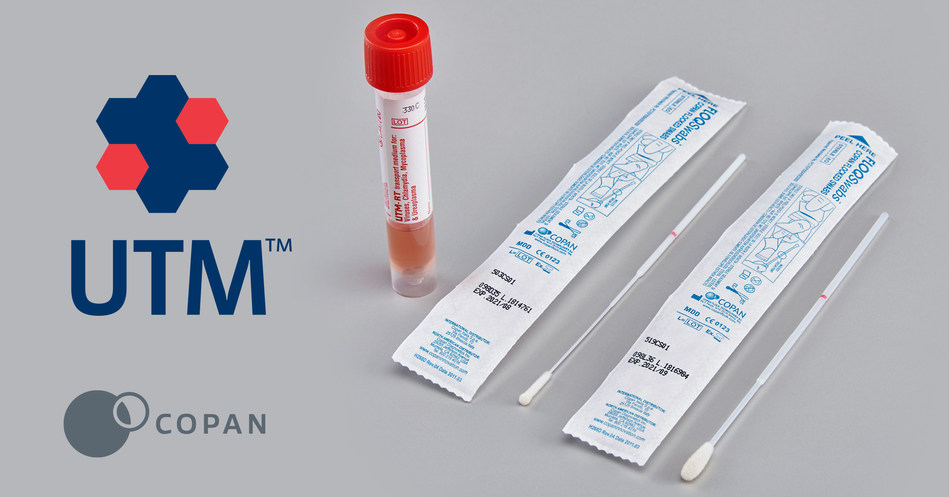 Individually Orderable Components are UTM™ Viral Transport Medium (item #330C), Nasopharyngeal Flocked Swabs (item #503CS01), and Oropharyngeal Flocked Swabs (item #519CS01) for Maximum Flexibility for Viral Transport Kits for Collection of Upper Respiratory Samples.
