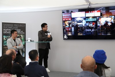 Members of the award-winning projects pitching to potential partners.