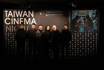 "Crews of ""Days (Rizi)"" and TAICCA's president, Ching Fang HU, at Taiwan Cinema Night."