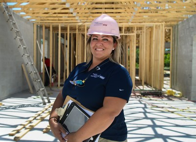 "Jessica Percel on the construction site. Percel's advice to young women considering a career in construction is, ""Just do it. Find what you're passionate about and go for it. No one is going to stop you."""
