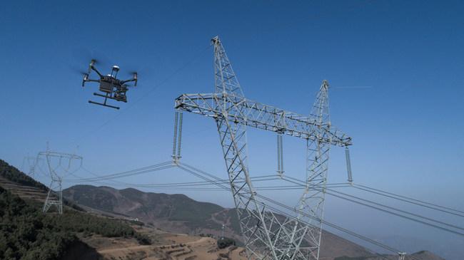 DJI Matrice 210 V2 involved in pylon energy inspections