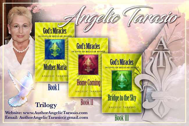 "Author Angelic Tarasio and her published Trilogy ""God's Miracles in Lives of Regular People"