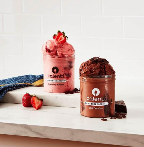 The latest dairy-free offerings from Talenti® Gelato & Sorbetto include Strawberry Hibiscus and Dark Chocolate.
