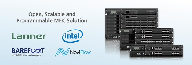 The all-in-one MEC Solution integrates Intel architecture multi-core compute, P4-programmable switching, security VNFs, and end-to-end orchestration to enable application performance at the virtualized edge