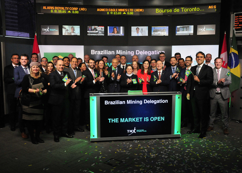 Brazilian Mining Delegation Opens the Market (CNW Group/TMX Group Limited)