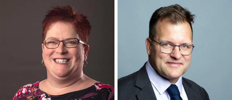 Left: Hillary Dawson, Chief Brand Officer, FP Canada. Right: Tom Hamza, Executive Director – Learning, Development & Innovation, and Head of the FP Canada Institute. (CNW Group/FP Canada)