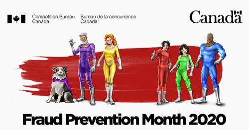Fight fraud this March! The Competition Bureau launches the annual Fraud Prevention Month campaign (CNW Group/Competition Bureau)