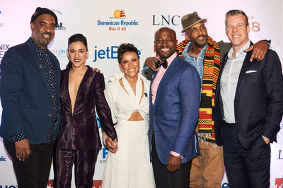Tony Peralta, Solly Duran, Kathy Romero, Taye Diggs, Shane Evans and Jonathan Wunderlich at DREAM's 8th Annual Benefit and Awards in New York City